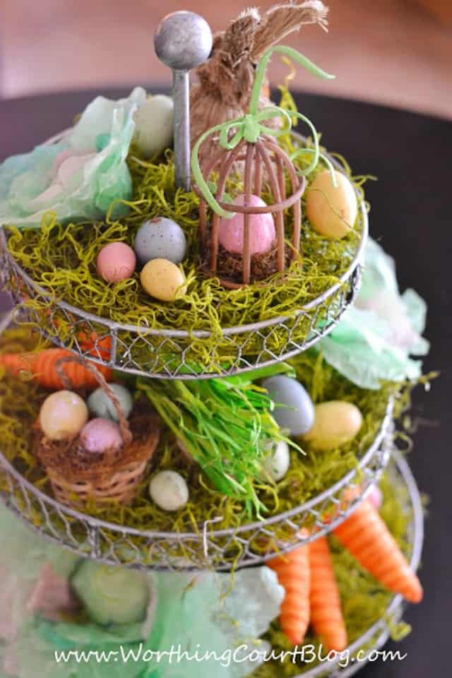 Easter Centerpiece With A Fun Craft Using Coffee Filters Worthing