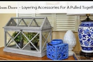 Family Room Decor – Layering Accessories On A Console Table