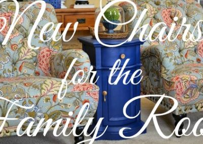 New Chairs, Chalk Paint And Updating My Family Room Decor