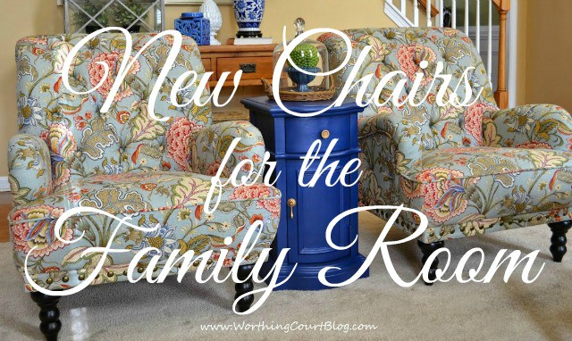 Changing the family room decor starting with new chairs from Pier 1 :: WorthingCourtBlog.com