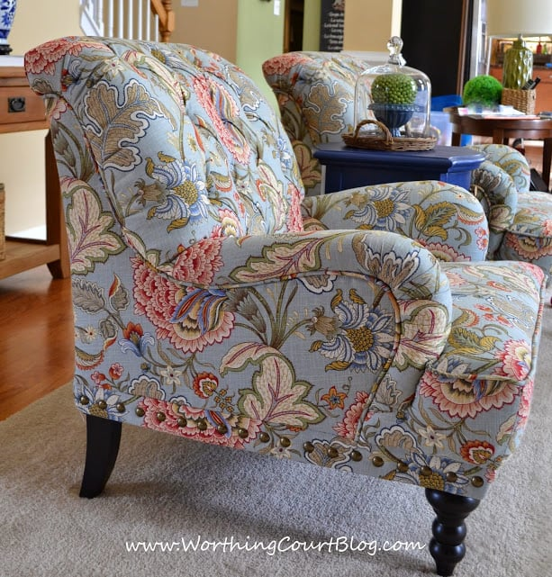 Changing The Family Room Decor Starting With New Chairs From Pier 1 ::  WorthingCourtBlog.