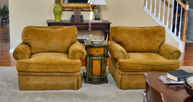 Gold club chairs
