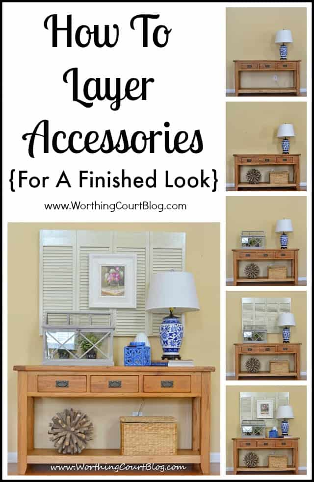 Layer accessories in your room decor for a finished look :: WorthingCourtBlog.com