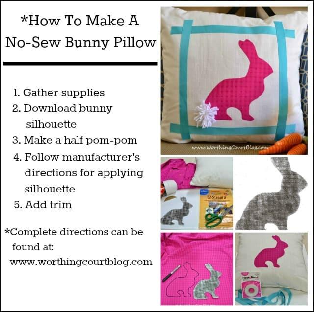 How to make a no sew bunny pillow :: WorthingCourtBlog.com
