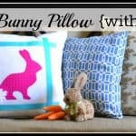 Easter Idea – No-Sew Bunny Pillow With A Twist