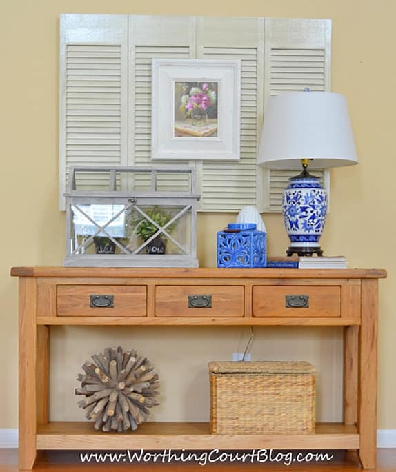 How to layer accessories for a finished look to your room decor :: WorthingCourtBlog.com