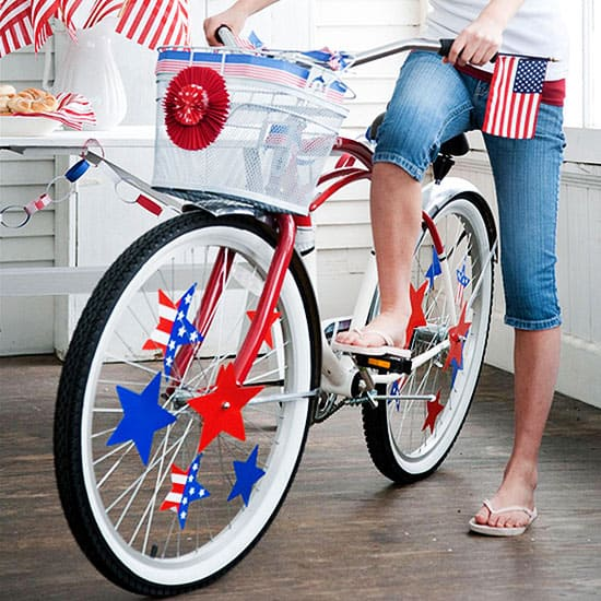 Patriotic bicycle