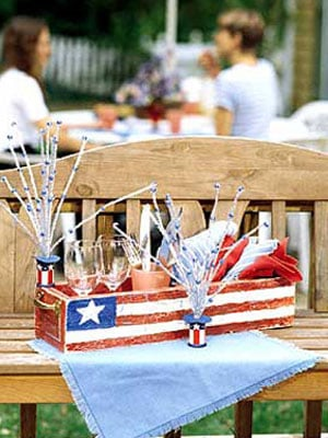 DIY vintage look patriotic toolbox