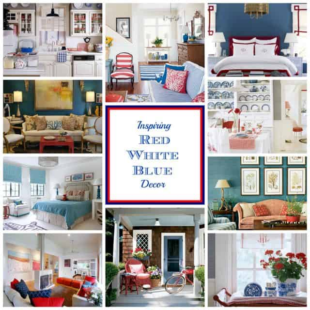 Inspiring ideas for decorating with patriotic red, white and blue