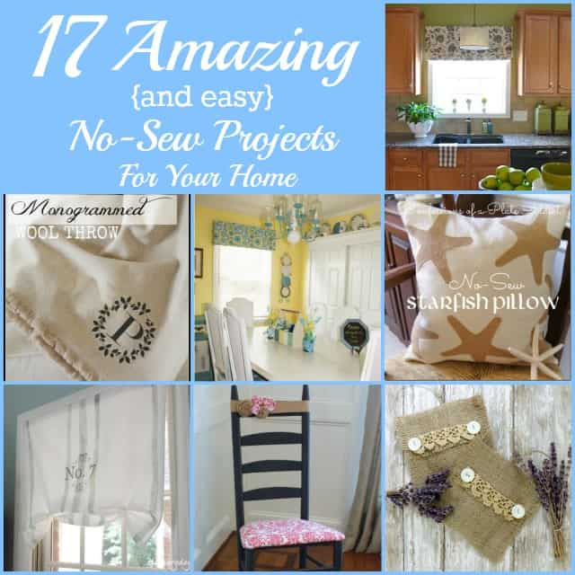 17 Amazing and Easy No-Sew Projects For Your Home