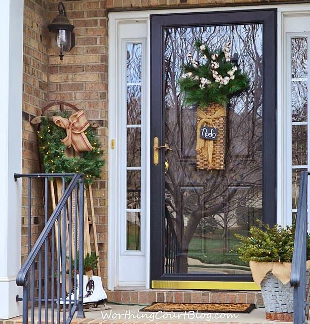 Christmas front porch decor