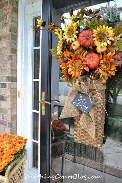 Fall door basket