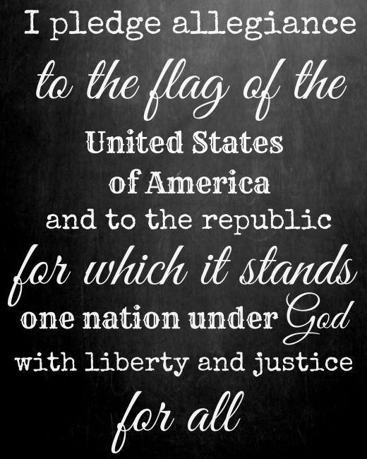 Free printable for July 4th - Pledge of Allegiance