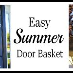 Summer Daisies Hanging Door Basket