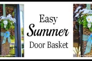 Summer Daisies Hanging Door Basket