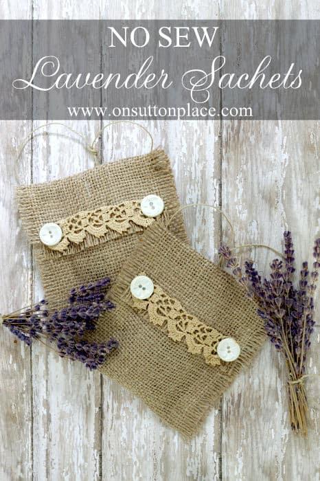 No-sew lavender sachets