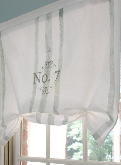 No-Sew Faux Roman Shade