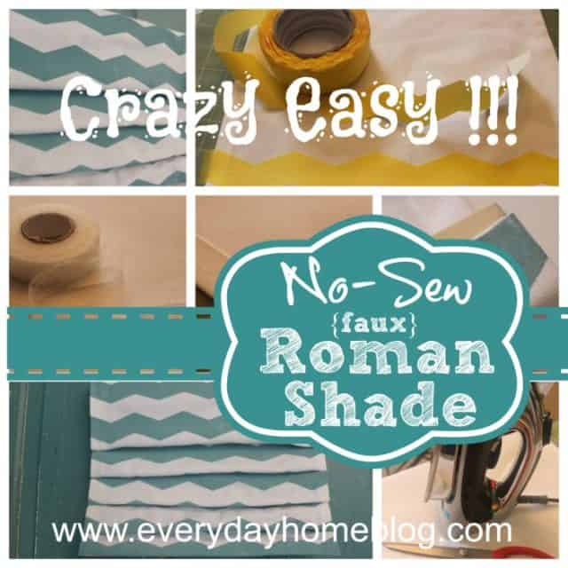 How to make a no-sew roman shade and create your own patterned fabric