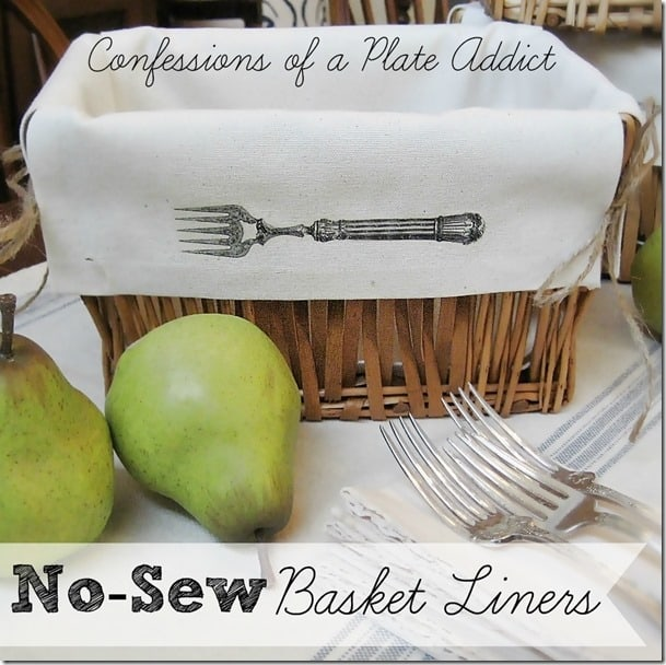 No-sew basket liners