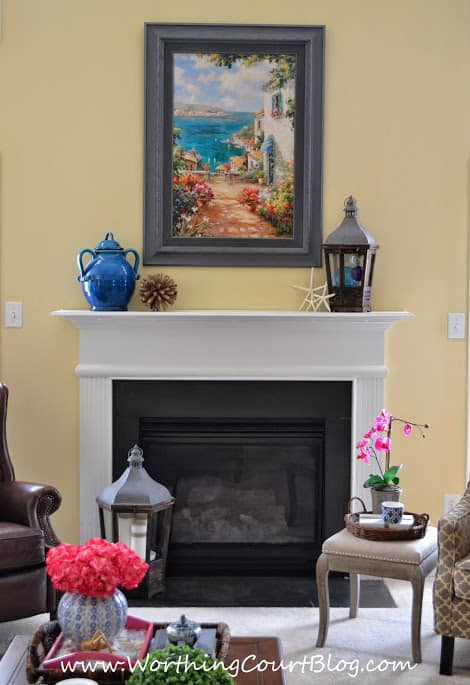 Use these decorating ideas to give your mantel and lighter and brighter look