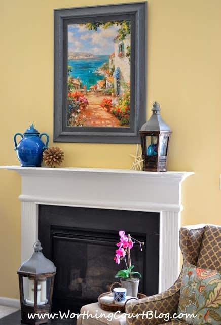 Summery mantel decorating ideas