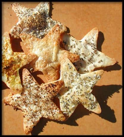Recipe for July 4th appetizer or snack: Tortilla Stars