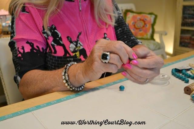 How to make wine cork napkin rings || WorthingCourtBlog.com