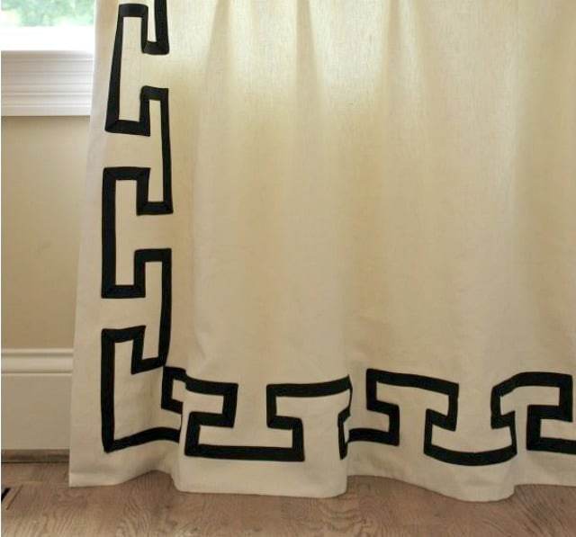 Use ribbon to create a Celtic design on draperies :: WorthingCourtBlog.com