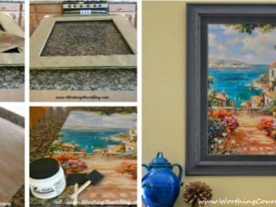 How to upcycle a piece of art and totally change the look of it on a tight budget