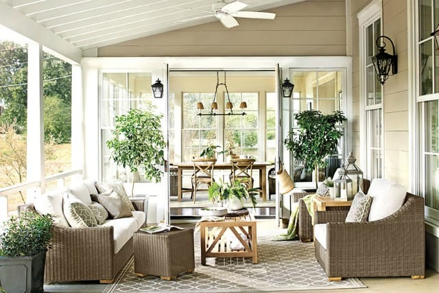 Love this covered porch