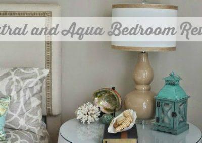 Neutral And Aqua Bedroom Decorating Ideas