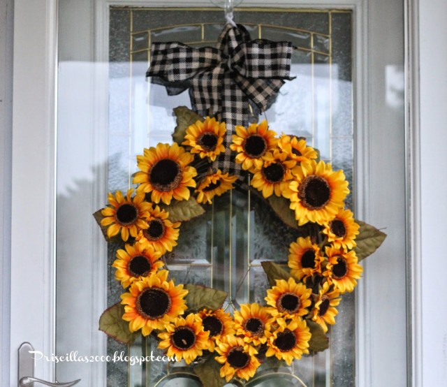 DIY Sunflower Wreath