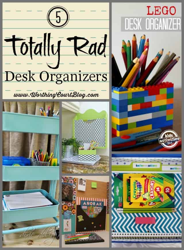 5 Totally Rad Desk Organizers for Kids || WorthingCourtBlog.com