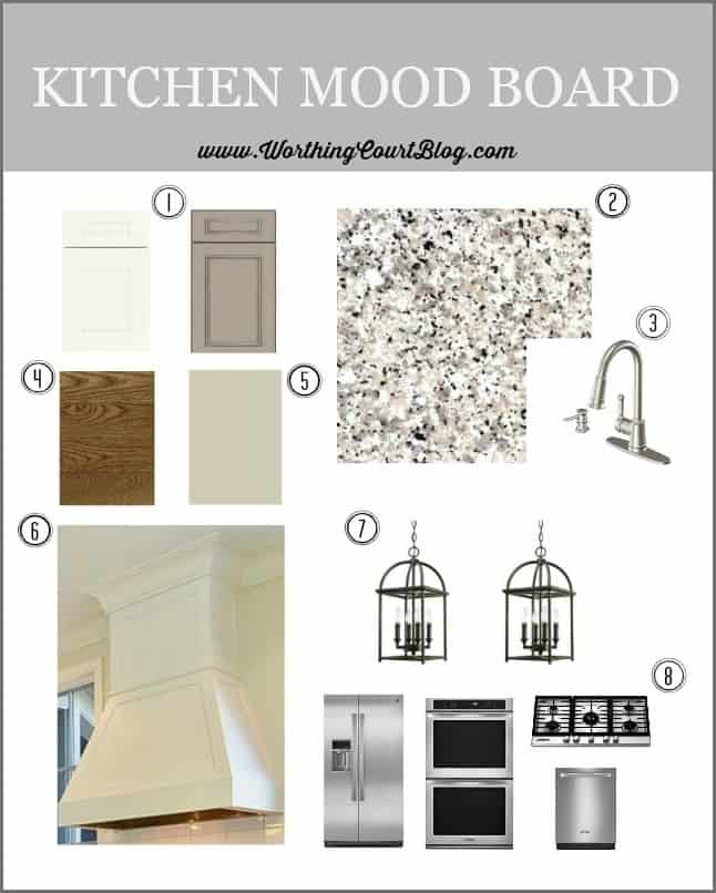 Kitchen mood board and remodeling plan || WorthingCourtBlog.com