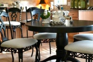Transform Kitchen Chairs With Spray Paint {And A Little Fabric}