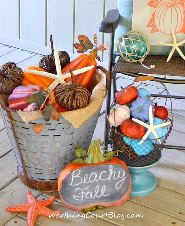 Beachy Fall Porch Tour || WorthingCourtBlog.com