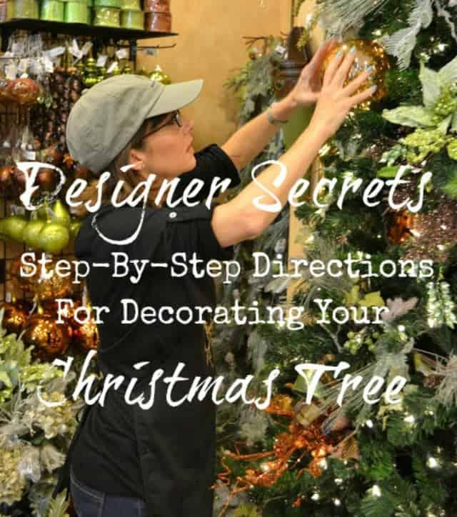 Step-by-step directions from a designer for how to decorate a Christmas tree