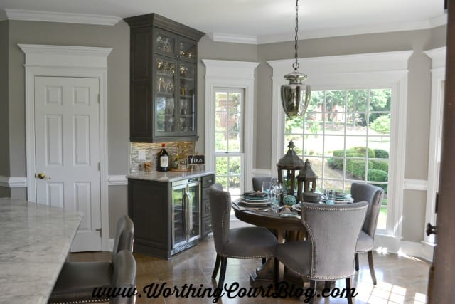 Add trim above windows and doors to visually heighten them