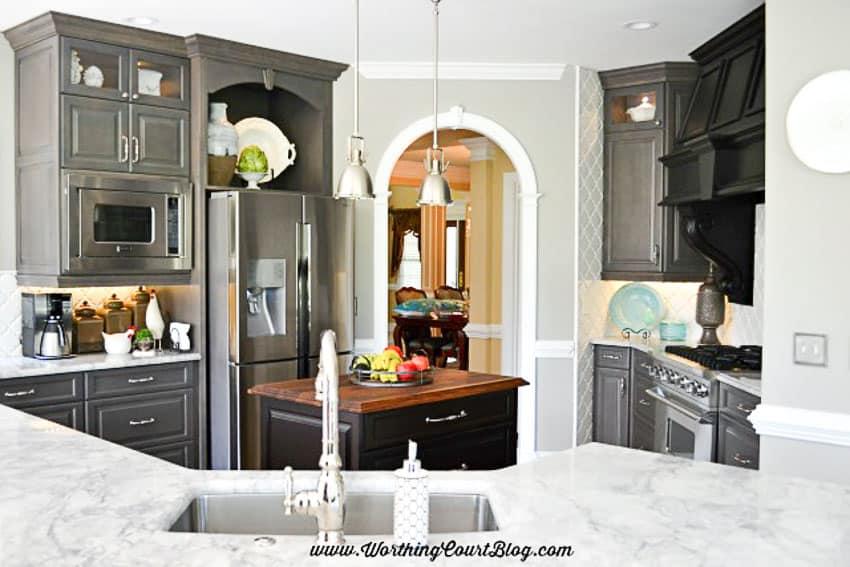 Remodeled kitchen layout    Worthing Court