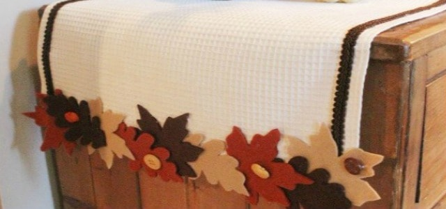 How to make a no-sew fall table runner