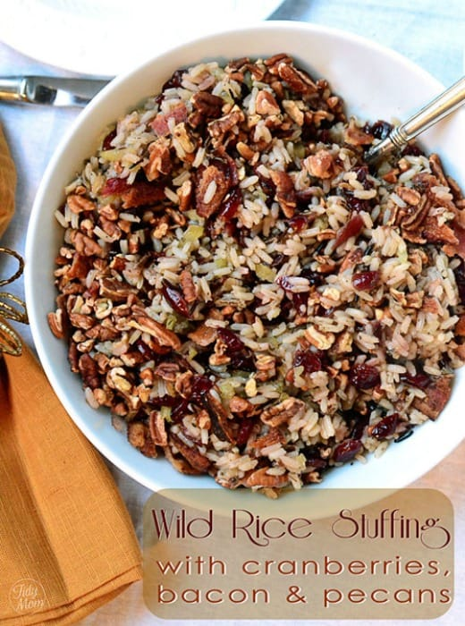 Recipe for Wild Rice Stuffing with Cranberries