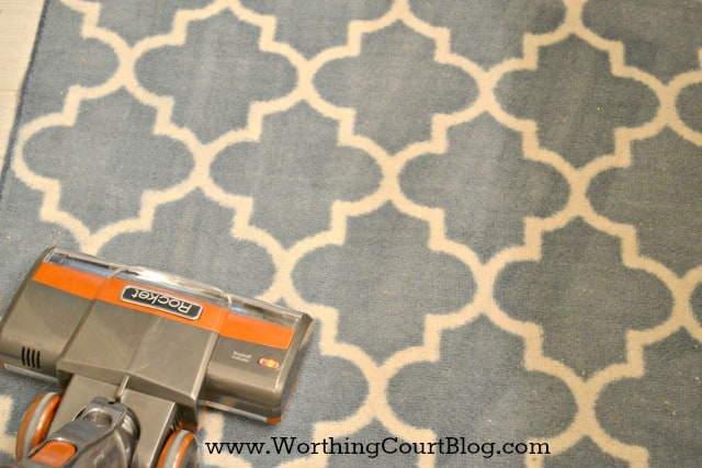 A Shark Rocket vacuum cleaner is great for small area rugs