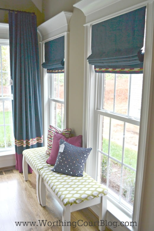 Repeat fabrics throughout a room to get a pulled together look