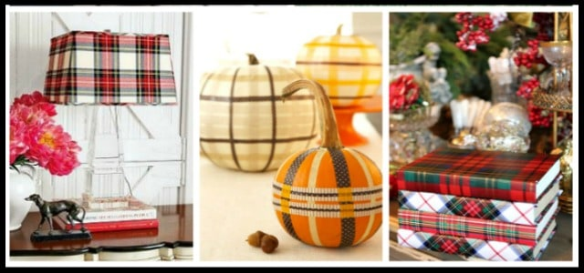Easy ideas for adding a touch of plaid to your home