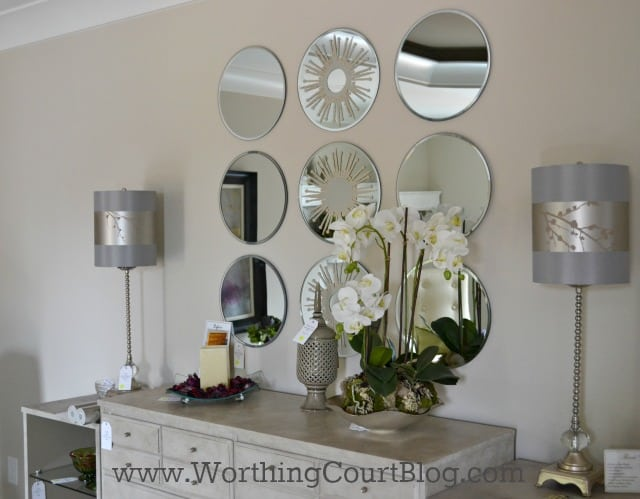 Group several mirrors above a dresser instead of just one large one