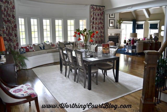 Chic Chateau show house dining room