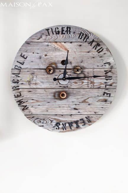 How to make an industrial spool clock