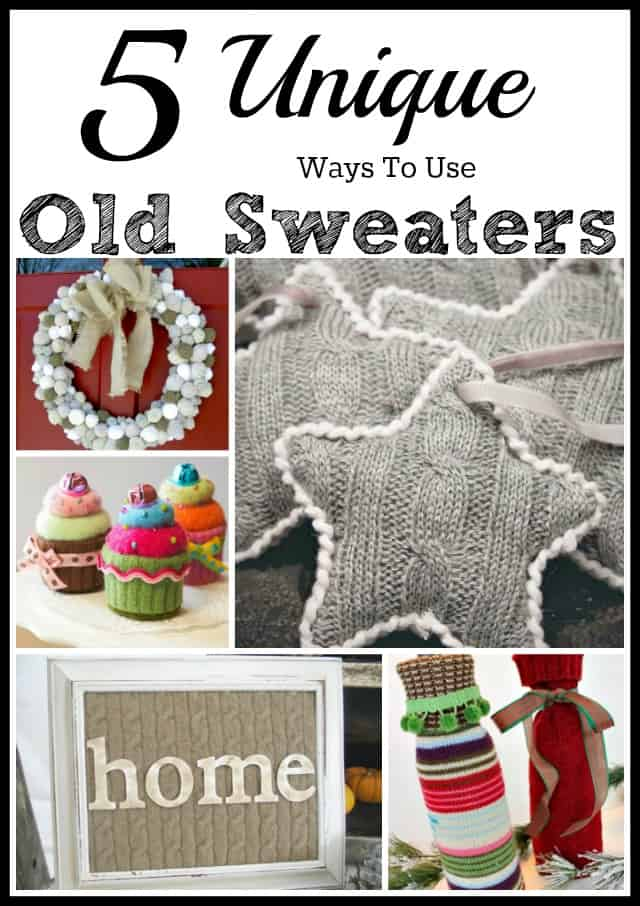 5 Unique Ways To Use Old Sweaters poster.