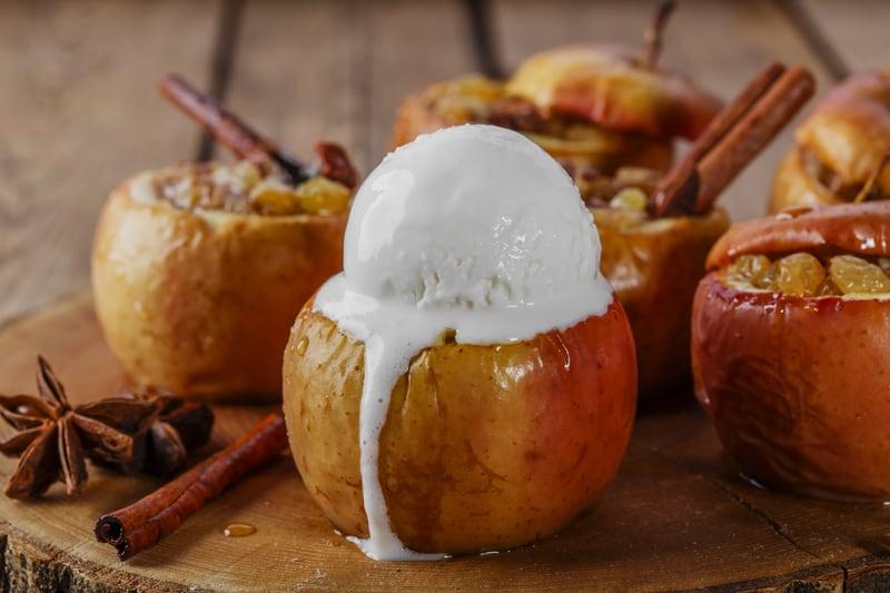 Baked Honeycrisp Apples    Worthing Court