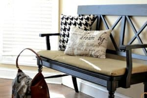 A Bench, Oversized Art And A Free Printable